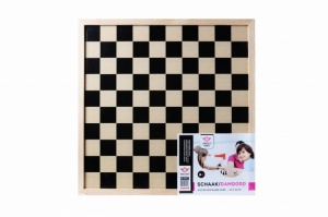Longfield Games chess board and checkerboard 40 x 40 cm