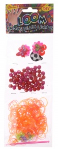 Toi-Toys Loom bracelet make girls purple / red 360-pieces
