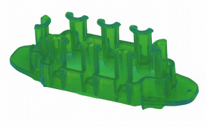 TOM loombord Mini junior rubber 8 x 2,5 x 2,5 cm donkergroen