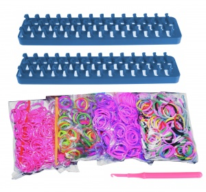 Loom Twister loombands Fun Loom 2000-delig blauw