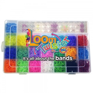 Loom Twister loombox 2500 loombands multicolore