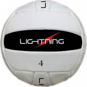 LS Sportif volleybal Training 4 leer wit/zwart
