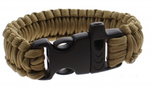 MacGyver Paracord survival Paracord with flute 23 cm brown