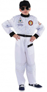 Magic Design kostuum astronaut jongens polyester wit