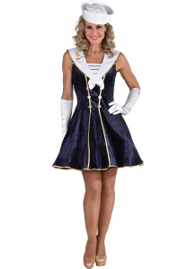 Magic Design verkleedjurk Matroos dames polyester navy