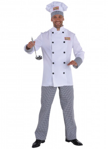 Magic Design verkleedkleding Chef polyester wit