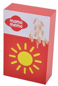 Mamamemo pak havermout hout 11 cm rood