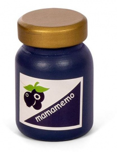 Mamamemo jam jar blueberry junior 6 cm wood dark blue/gold