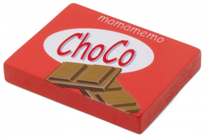 Mamamemo chocolate bar 10 x 8 cm wood red/brown