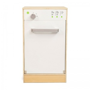 Mamamemo wooden dishwasher 29 x 50 x 33.5 cm clear / white