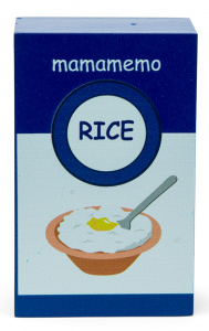 Mamamemo pack rice pudding 10 cm wood blue/white