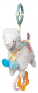 Manhattan Toy activity toy llama 28 cm plush white