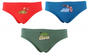 Marvel underwear set Avengers 3 pieces boys