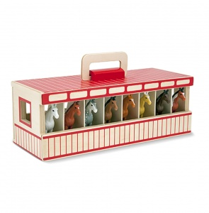 Melissa & Doug Wooden horse stable