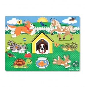 Melissa & Doug wooden shapes puzzle pets 8-pieces