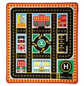 Melissa & Doug Verkeerskleed Round the city rescue 100 cm