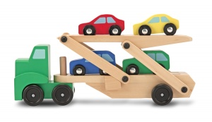 Melissa & Doug transport trolley with cars 5-piece