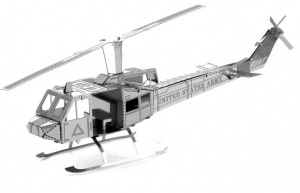 Metal Earth Helicopter UH-1 Huey 3D modelbouwset 12 cm