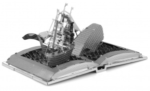 Metal Earth Moby Dick Book Sculpture model set