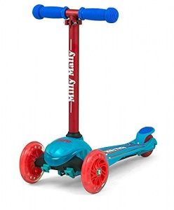 Milly Mally kinderstep Zapp Scooter Coral junior blauw/rood