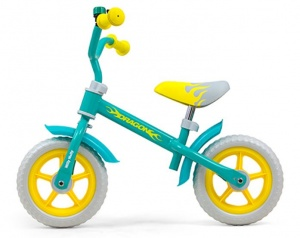 Milly Mally loopfiets Dragon 10 Inch Junior Mintgroen/Geel