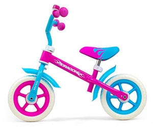 Milly Mally loopfiets Dragon 10 Inch Junior Roze/Blauw