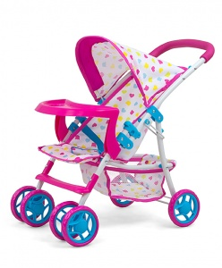Milly Mally puppenwagen KateCandy 54 cm rosa / blau
