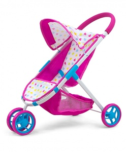 Milly Mally poppenwagen Susie Candy 63 cm roze/blauw