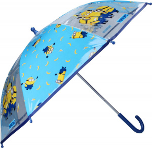 Universal children's umbrella Minions 61 x 63 cm polyester / stainless steel blue