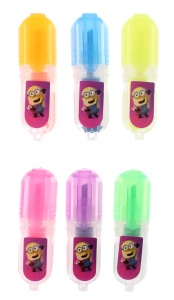Minions marking pins 6 cm girls 6 pieces