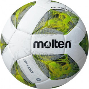 Molten indoor football A3400 latex/polyurethane white/yellow size 4
