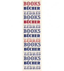Moses bookmark with elastic books 17,5 x 4,7 cm white / blue