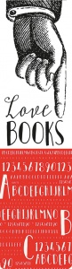 Moses bookmark with elastic Love Books 17,5 x 4,7 cm white / red
