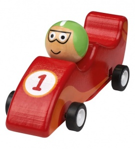 Moses wooden racing car 11.5 cm red