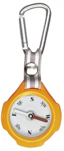 Moses compass with carabiner 9,5 cm orange/beige