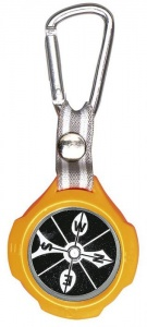 Moses compass with carabiner 9,5 cm orange/black