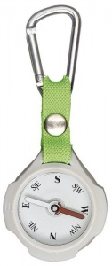 Moses compass with carabiner 9,5 cm grey/light green
