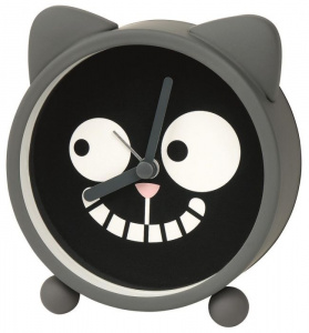 Moses alarm Ed the Catclock junior 10 x 3,7 cm rubber grey/black
