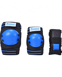 Move skate protection 3-piece basic blue