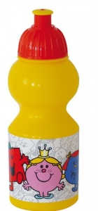 Mr. Men & Little Miss bidon 350 ml geel/rood