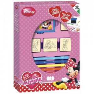Multiprint kleurset Minnie Mouse 12-delig roze