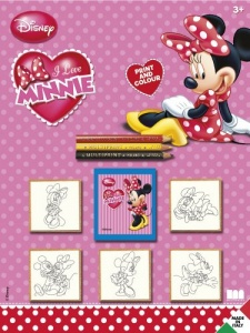 Multiprint kleurset Minnie Mouse 9-delig roze