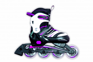 Muuwmi inline skates Kinderliner roze/zwart junior