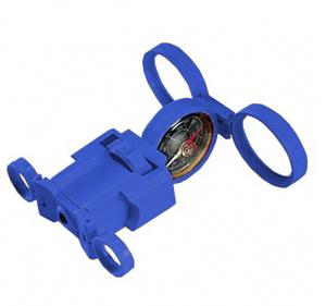 Navir multifunctional compass junior 10 x 10 cm blue