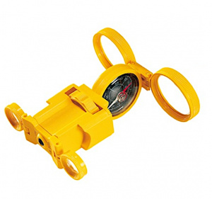 Navir multifunctional compass junior 10 x 10 cm yellow