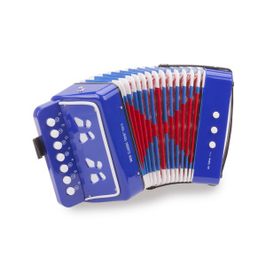New Classic Toys accordeon met muziekboek junior 19 cm blauw