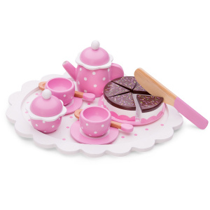 New Classic Toys koffie en theeservies junior hout roze 16-delig