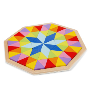 New Classic Toys octagon puzzel junior 29,5 cm hout 73-delig