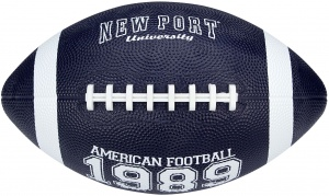 New Port American Football groß 28 cm marineblau/weiß