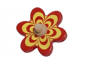 Nic rot-gelbe Blume 10 cm Holz